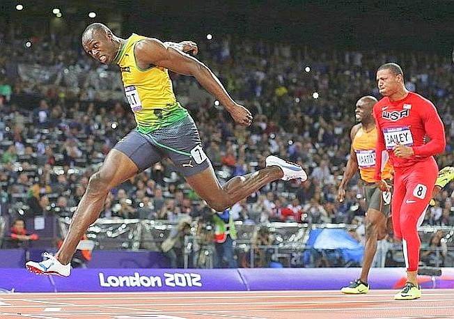 Il re sempre bolt for Finale 100 metri londra