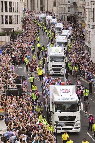 La parata è stata organizzata dal sindaco di Londra Boris Johnson. Ansa