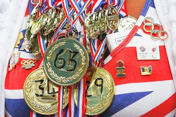 L'orgoglio di Team GB: 185 medaglie. Reuters