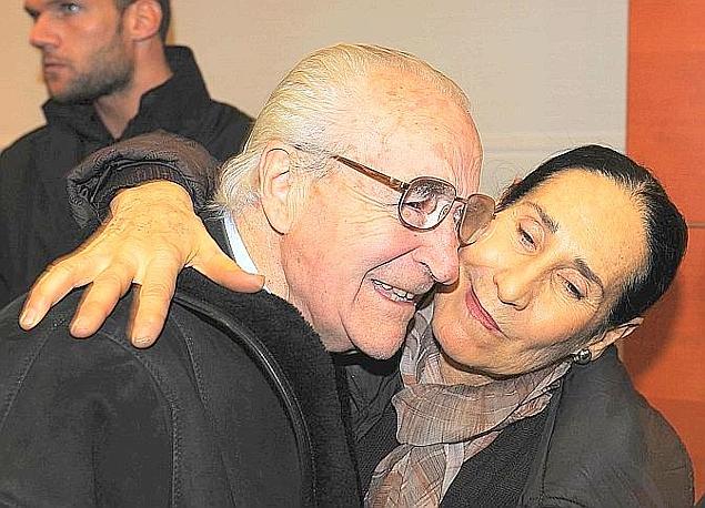 L'abbraccio in Gazzetta con Franca Cannavò. Bozzani