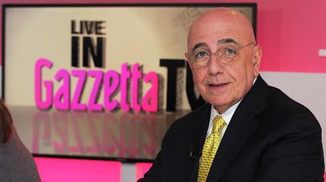 Adriano Galliani, a.d. del Milan, ospite in Gazzetta. Bozzani