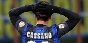 Antonio Cassano, uno degli infortunati doc in casa Inter. Ansa