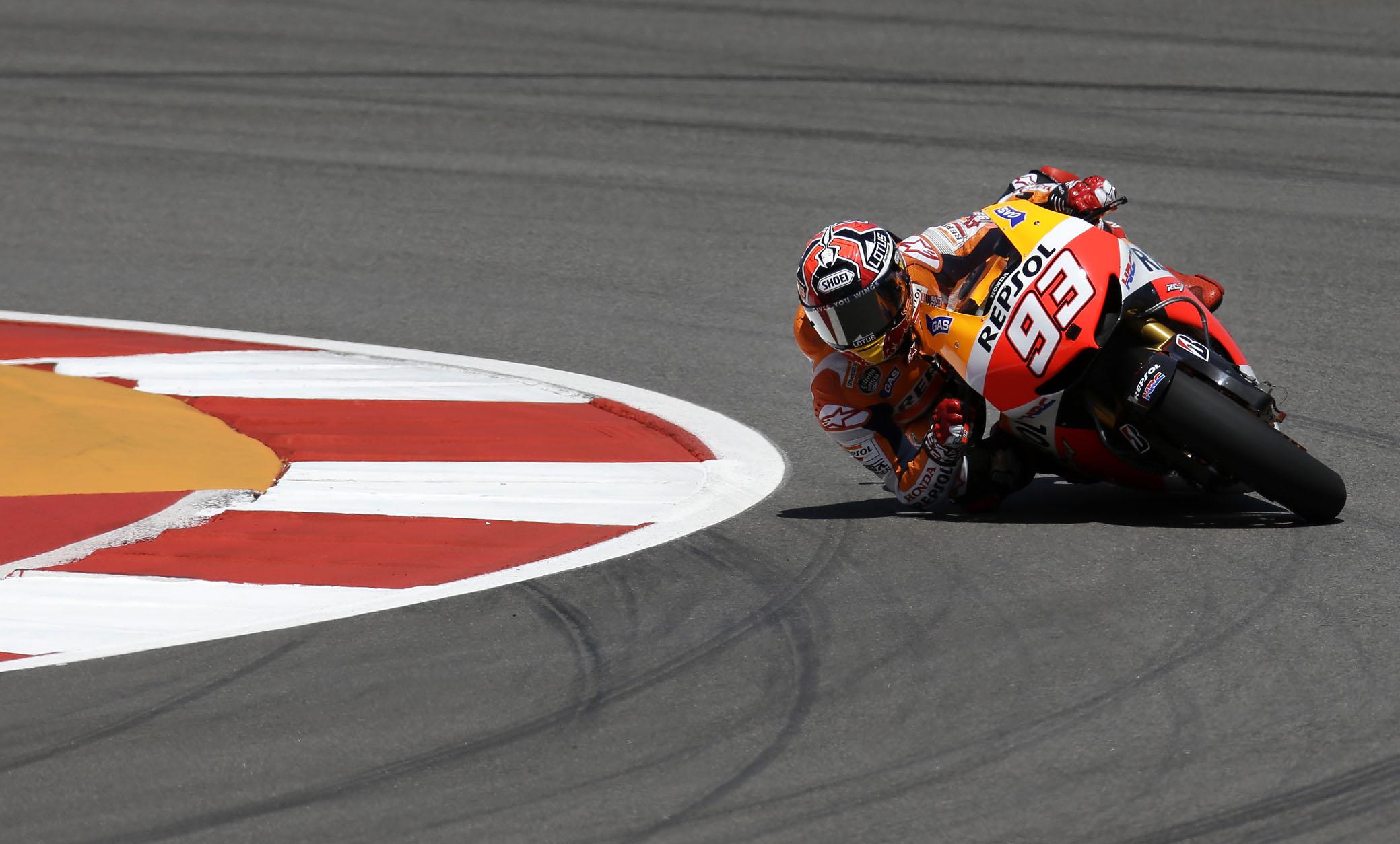 MotoGP, Austin, libere3: Marquez cade, Pedrosa lo scavalca. Vale lontano - La Gazzetta dello Sport