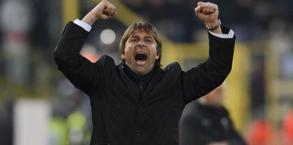 Conte esulta in maniera fragorosa durante Bologna-Juve. LaPresse