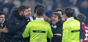 La rabbia irrefrenabile di Conte in Juventus-Genoa. LaPresse