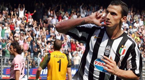 Zlatan Ibrahimovic, già alla Juve dal  2004 al 2006. Ansa