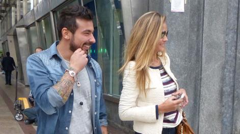 Ezequiel Lavezzi, 27 anni, e  Natalia, compagna del titolare del ristorante