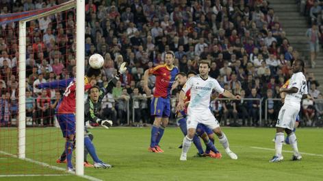 Moses segna l'1-0 per il Chelsea. Reuters