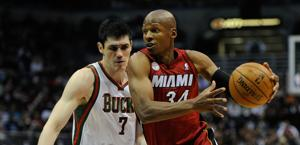 Ray Allen, top scorer di Miami a Milwaukee. Usa Today