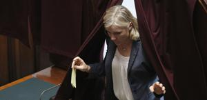 Josefa Idem, 48 anni, in Parlamento. Ansa