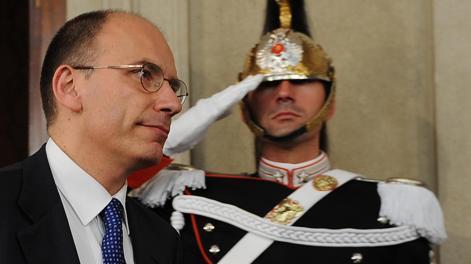 Il Presidente del Consiglio dei ministri incaricato, Enrico Letta. Ansa