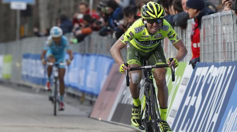 Mauro Santambrogio alla Tirreno di quest'anno. Bettini