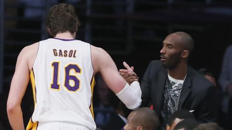 Pau Gasol e Kobe Bryant.