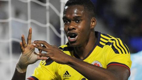 Jherson Vergara ha 18 anni. gioca nell'Universitario Popayan. Reuters