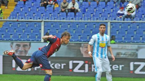 Il gol di Floro Flores dell'1-0, Ansa