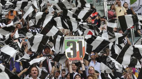 La festa dello Juventus Stadium. Ap