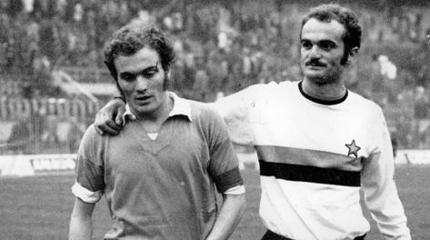 Da sinistra Ferruccio Mazzola e il fratello Sandro.