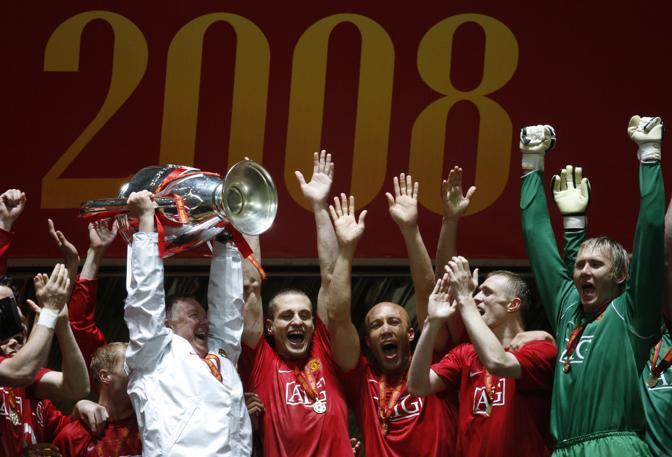 21 maggio 2008. Lo United vince la Champions contro il Chelsea. Afp
