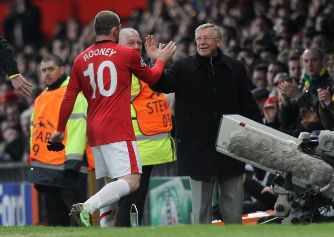 10 marzo 2010. Rooney esce durante il match di Champions con il Milan. Ansa