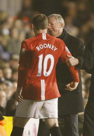 7 marzo 2009. Ferguson e Wayne Rooney. Ap
