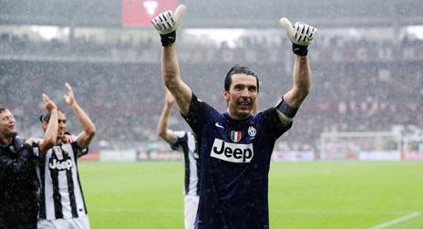 Gigi Buffon, numero uno della Juventus campione d'Italia. Ansa