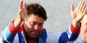 Andrew Simpson, 36 anni, oro a Pechino 2008 nella classe Star.  Epa