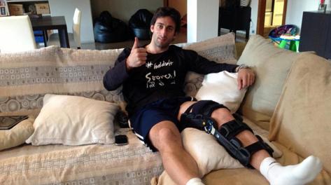 Anche Milito si è recentemente infortunato a un ginocchio. Ansa
