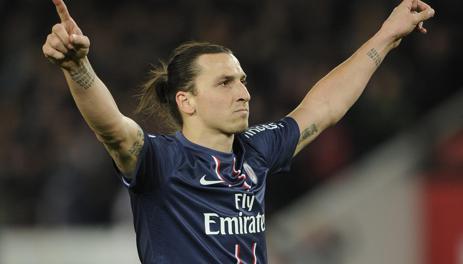 Zlatan Ibrahimovic, leader e capocannoniere del Psg con 27 gol. Epa