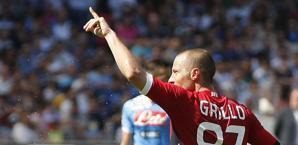 Grillo esulta: a segno alla prima presenza in serie A. Afp
