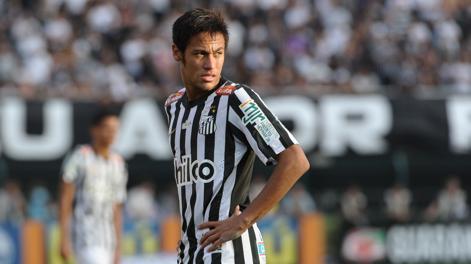 Neymar, 21 anni, 54 gol in 102 partite con  il Santos. Afp
