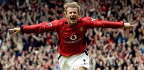 Beckham nel 2003, alllo United. Afp