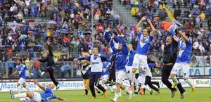 La festa del Brescia: ha centrato i playoff. LaPresse