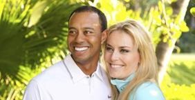 Tiger Woods e Lindsay Vonn. Reuters