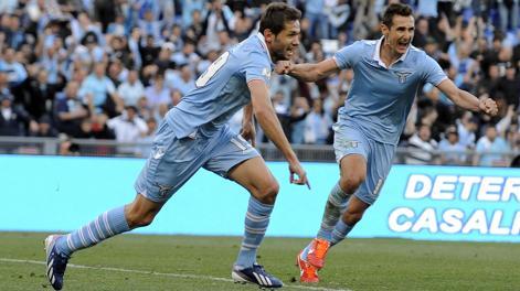 La gioia di Lulic dopo il gol della vittoria. LaPresse
