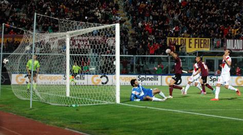 Il pareggio del Livorno che vale la finale playoff. LaPresse