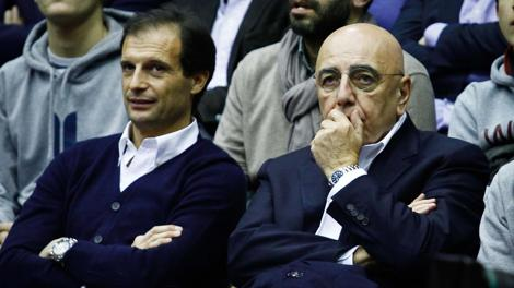 Galliani riflette, Allegri sorride: strategia di coppia. LaPresse
