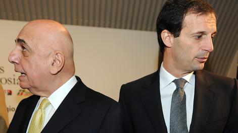 Galliani e Allegri. Ansa