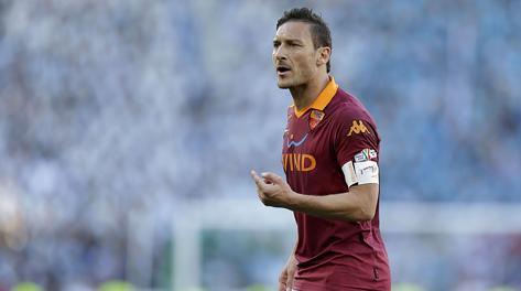 Francesco Totti, capitano della Roma. Eidon