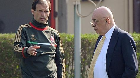 Massimiliano Allegri e Adriano Galliani. Ansa