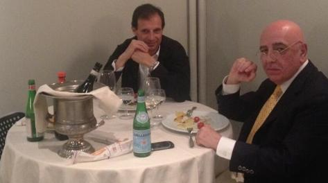 Allegri e Galliani a cena. Twitter