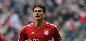Mario Gomez, attaccante del Bayern Monaco. Afp
