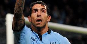 Carlos Tevez, punta del Manchester City. Epa