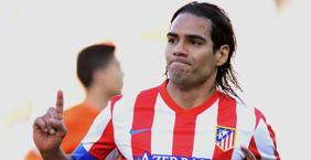 Radamel Falcao, punta dell'Atletico Madrid ad un passo dal Monaco. Afp