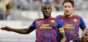 Eric Abidal, oggi l'addio al Barcellona. Ap