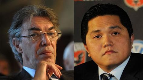 Massimo Moratti, presidente nerazzurro, e l'indonesiano Erick Thohir