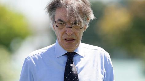 Massimo Moratti, 68 anni, proprietario dell'Inter dal 1995. LaPresse