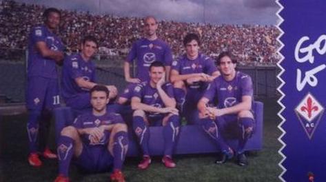 La foto del manifesto della Fiorentina nella campagna abbonamenti 2013-14
