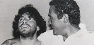 Gianni Di Marzio con Diego Maradona.