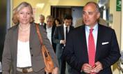 Ministro in rosa - Josefa Idem con il direttore della Gazzetta dello Sport Andrea Monti. L'ex canoista, attuale  ministro per le pari opportunità, dello sport e delle politiche giovanili è stata ospite nella redazione milanese del quotidiano nella giornata di giovedì. Bozzani