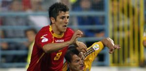 Stevan Jovetic in azione contro l'Ucraina. Ap